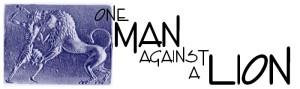 man-against-a-lion