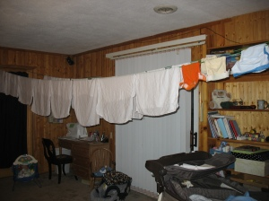 Living Room Clothes Line!